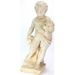 Victorian period curved stone garden statue