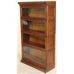 Antique 4 stack barrister bookcase, step back