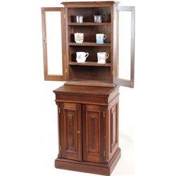 Small barber shop cabinet C. 1890's walnut
