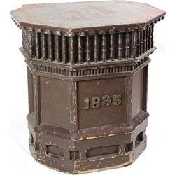 Original 1895 wood podium from fraternal