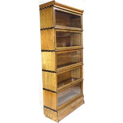 Oak Macy stacking bookcase with 5 section