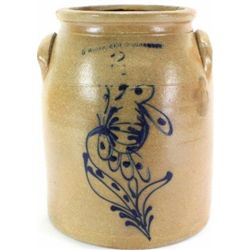 C. 1870's N. White & Co. stoneware jar
