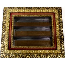 Victorian wall show box with mirrored back,