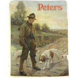 Original Peters Ammunition poster on textured