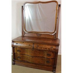 Outstanding quartersawn oak dresser