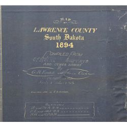 Large original 1894 Lawrence Co. South Dakota