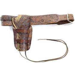 Heiser holster rig fully floral carved double loop