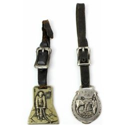 Pair of watch fobs, includes Bred in Kentucky