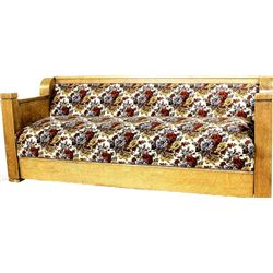 1900-1920's oak fold couch mission style