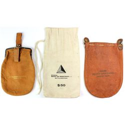 Collection of 3 money bags including Washburn