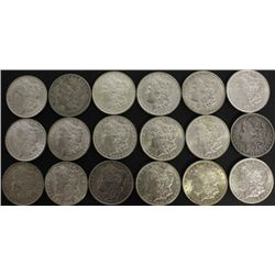 Collection of 18 Morgan silver dollars