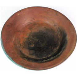 Solid copper gold pan the reverse marked Hudson