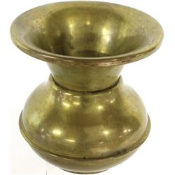 Antique brass spittoon with weighted bottom