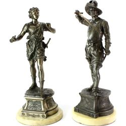 Pair spelter statues includes Don Ceasar 22""