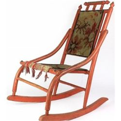 19th C. childs rocker, painted with original