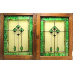 Nice pair of stained glass doors from Arts