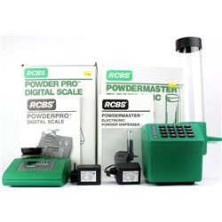 Group of 2 includes an RCBS Powder master