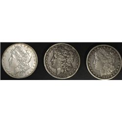 Collection of 3 Morgan Silver Dollars includes