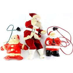 Collection of 3 vintage Santa Claus C. 1950's
