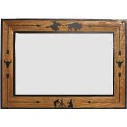 Molesworth style mirror framed in wood by New