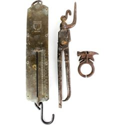 Collection of 3 includes hanging scale,