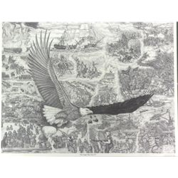"""The Eagle Flies Free II"" lithograph signed"