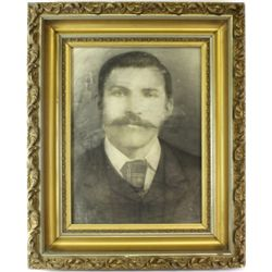 Victorian framed charcole photo of unidentified