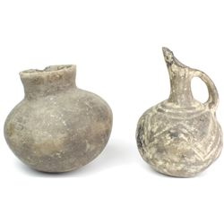 Collection of 2 early potter vessels includes