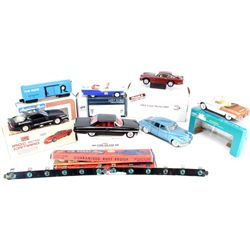 Collection of 8 includes die cast cars, 2 Jim