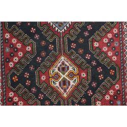 Hand woven Hamadan wool rug, 1950's