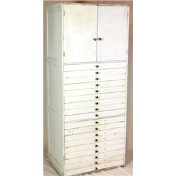 Large storage cabinet with 2 upper doors