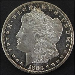 1883 CC Morgan silver dollar.