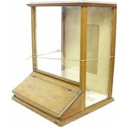 Oak counter top bulk display from old mercantile