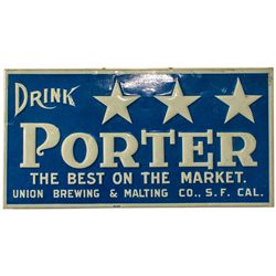 Union Brewing Co. Porter Tin Sign