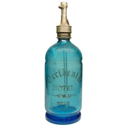 The Fabulous Occidental Hotel, Bodie, Cal. Cobalt Seltzer Bottle