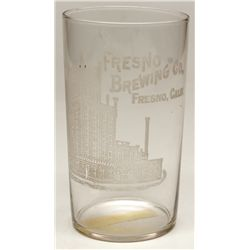Fresno Brewing Co. glass