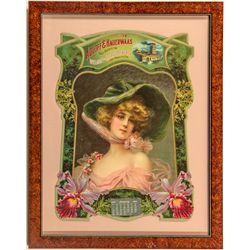 Adolff & Hauerwaas, Agent for Wieland's, Calendar Die Cut 1904