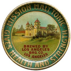 Los Angeles Brewing Co. Mission Malt Tonic, Deep Dish Tip Tray