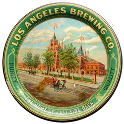 Los Angeles Brewing Co. Tip Tray, Factory w/Wagon