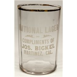 National Lager glass