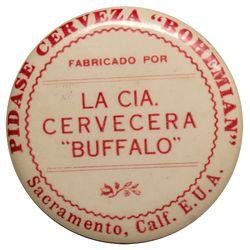 Buffalo Brewery Spanish pocket mirror