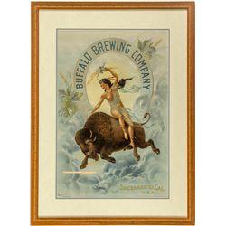 Buffalo Brewing Co. Calendar Broadside, Buffalo Thru Horsehoe