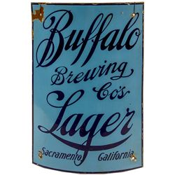Buffalo Brewing Co. Corner Advertising Porcelain Sign
