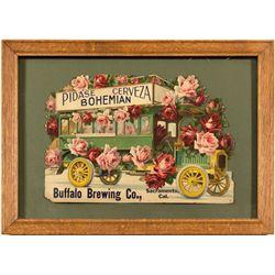 "Buffalo Brewing Co. Die Cut, ""Pidase Cerveza Bohemian"""