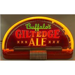 Buffalo's Gilt Edge Ale electric sign