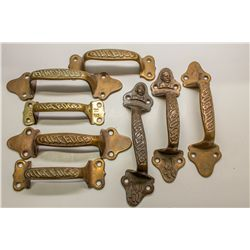 Ruhstaller's Gilt Edge Lager Brass Ice Box Handles