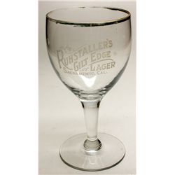 Ruhstaller's Gilt Edge Lager glass