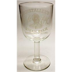 Ruhstaller's glass goblet