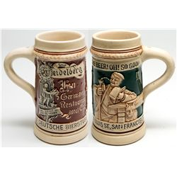 Early Acme Ceramic Beer Stein