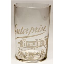 Enterprise Brewing Co. glass